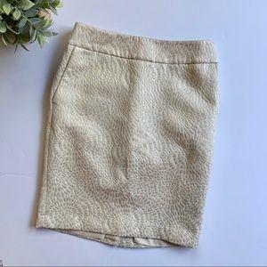 AT Loft | Cream Skirt with Golden Shimmer Detail 0